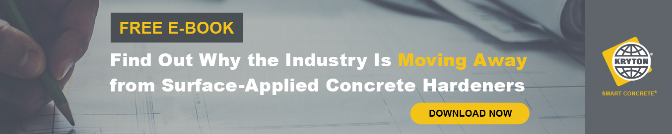 Download our e-book today to find out why the industry is moving away from surface-applied concrete hardeners.